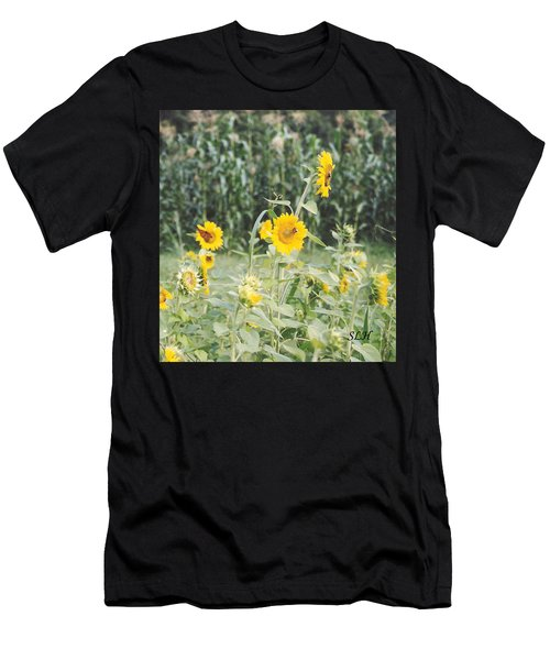 Butterfly On Sunflower Men's T-Shirt (Athletic Fit)