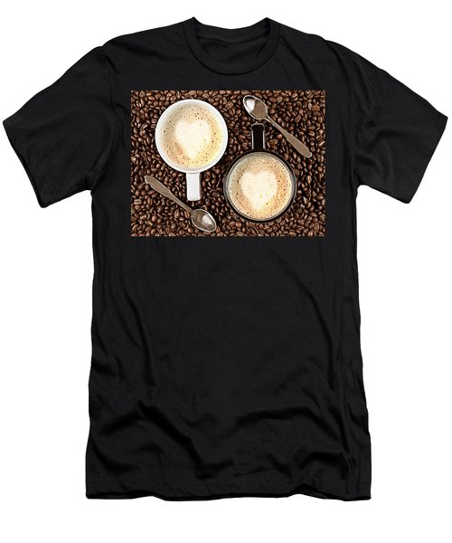 Men's T-Shirt (Slim Fit) featuring the photograph Caffe Latte For Two by Gert Lavsen
