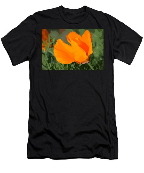 California Poppy2 Men's T-Shirt (Athletic Fit)