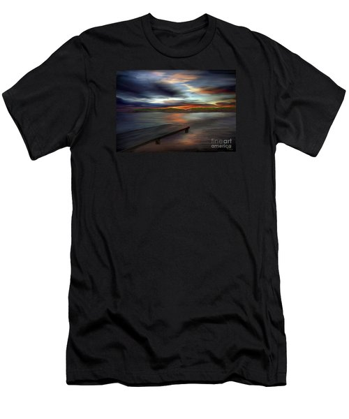 Men's T-Shirt (Slim Fit) featuring the painting California Sky by Rand Herron