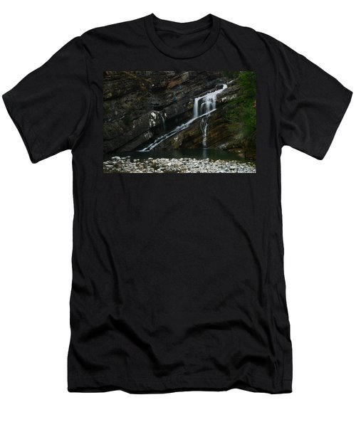 Cameron Falls Waterton Lakes National Park Men's T-Shirt (Athletic Fit)