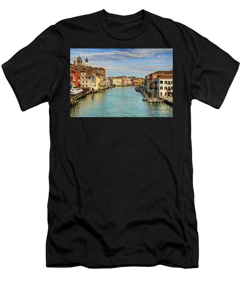 Canals Of Venice  Men's T-Shirt (Athletic Fit)
