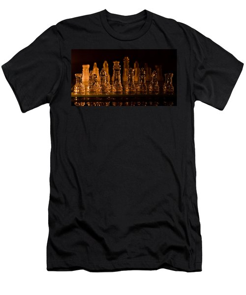 Candle Lit Chess Men Men's T-Shirt (Athletic Fit)