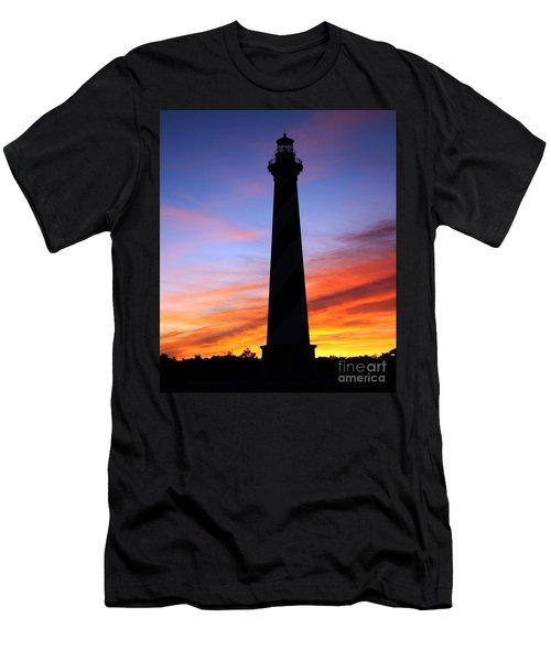 Cape Hatteras Sunset Men's T-Shirt (Slim Fit) by Tony Cooper