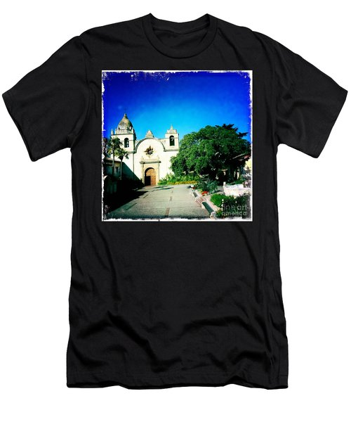 Men's T-Shirt (Slim Fit) featuring the photograph Carmel Mission by Nina Prommer