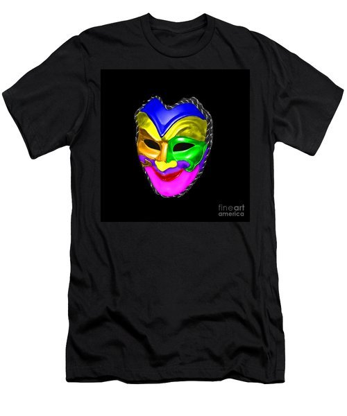 Men's T-Shirt (Slim Fit) featuring the photograph Carnival Mask by Blair Stuart