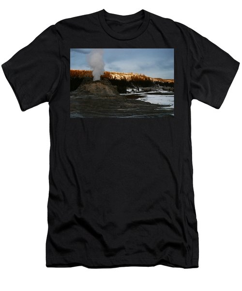 Castle Geyser Yellowstone National Park Men's T-Shirt (Athletic Fit)