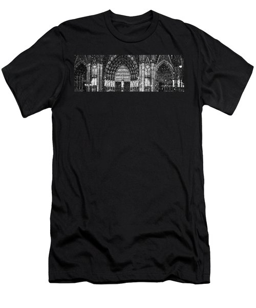 Men's T-Shirt (Slim Fit) featuring the photograph Cathedral In The Snow Panorama by Andy Prendy