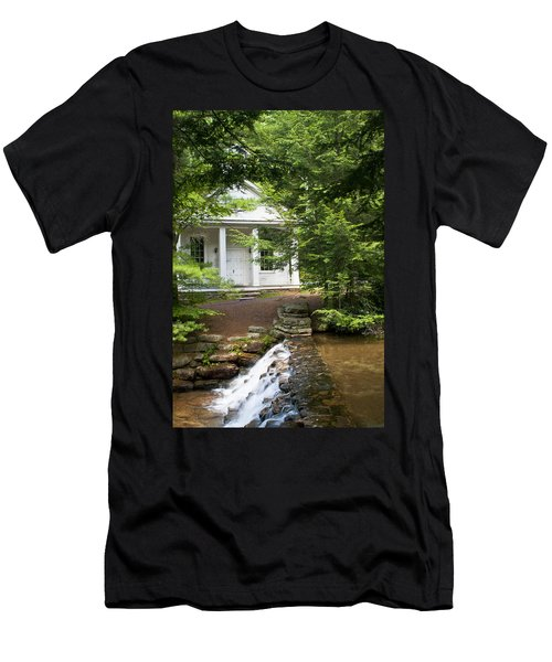 Chapel At Hickory Run State Park Men's T-Shirt (Athletic Fit)