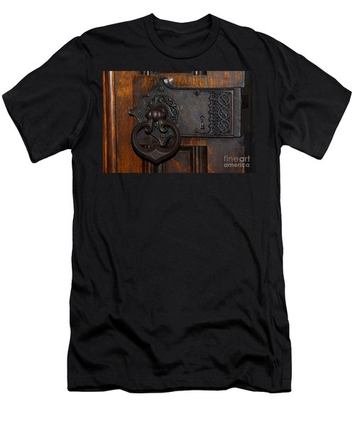 Men's T-Shirt (Slim Fit) featuring the photograph Chapel Door by Cindy Manero