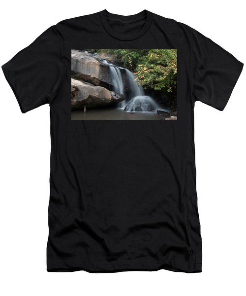 Men's T-Shirt (Slim Fit) featuring the photograph Chau-ram Falls by Lynne Jenkins