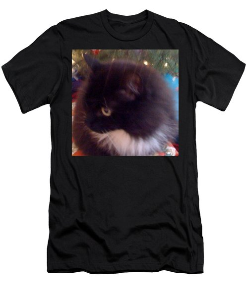 Chaucy Kitty All Sparkly #cats #fluffy Men's T-Shirt (Athletic Fit)