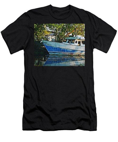 Chauvin La Blue Bayou Boat Men's T-Shirt (Athletic Fit)