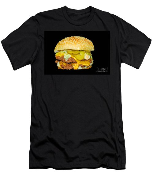 Men's T-Shirt (Slim Fit) featuring the photograph Cheeseburger by Cindy Manero