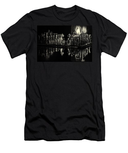 Chess By Candlelight Men's T-Shirt (Athletic Fit)