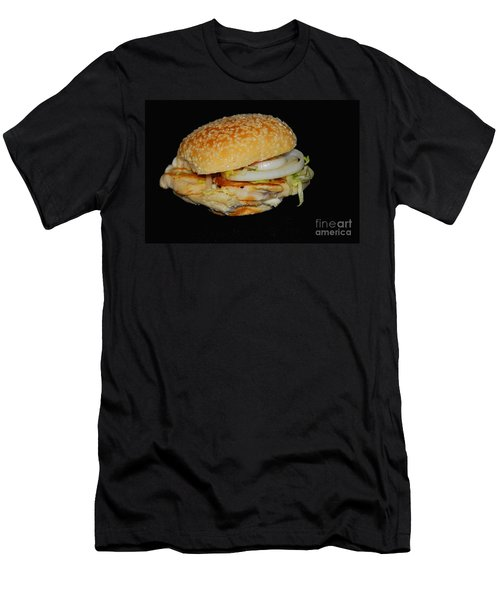 Men's T-Shirt (Slim Fit) featuring the photograph Chicken Sandwich by Cindy Manero