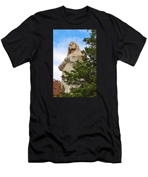 Chief Blackhawk Statue Men's T-Shirt (Athletic Fit)