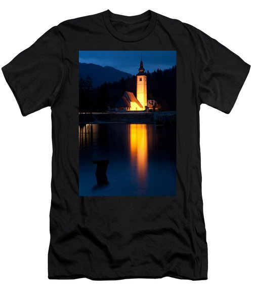 Church At Dusk Men's T-Shirt (Athletic Fit)