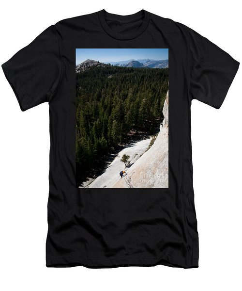 Climber In Yosemite Men's T-Shirt (Athletic Fit)