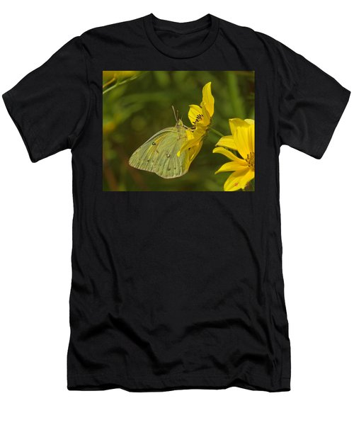 Clouded Sulphur Butterfly Din099 Men's T-Shirt (Athletic Fit)