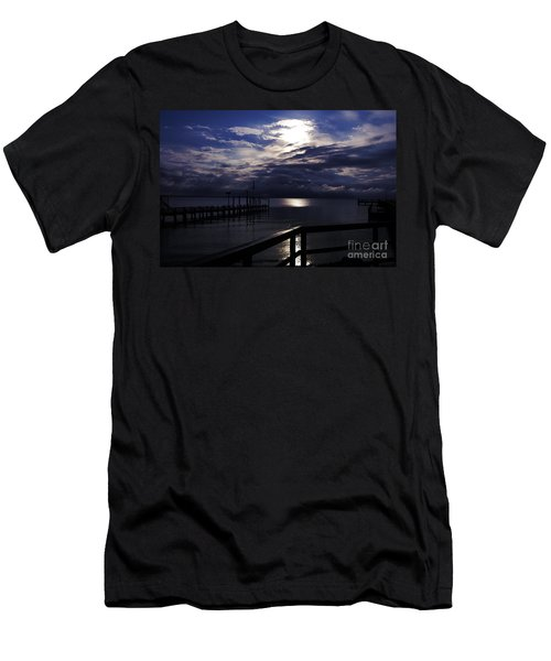 Men's T-Shirt (Slim Fit) featuring the photograph Cold Night On The Water by Clayton Bruster