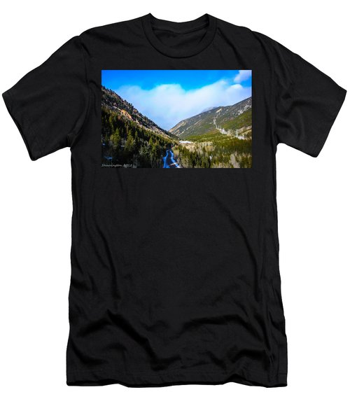 Men's T-Shirt (Slim Fit) featuring the photograph Colorado Road by Shannon Harrington