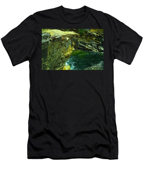 Colored Rocks  Men's T-Shirt (Slim Fit) by Jeff Swan