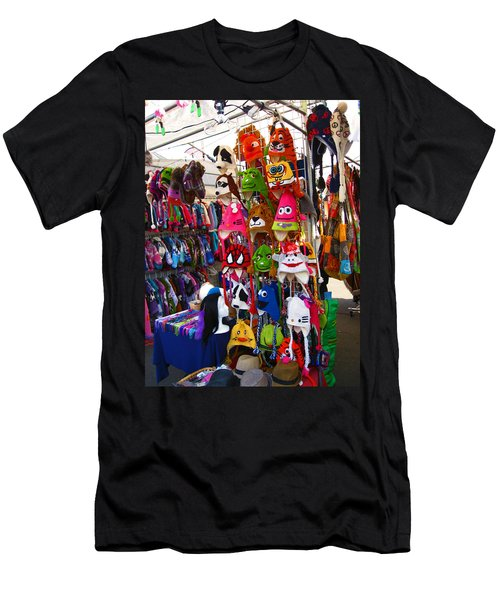 Colorful Character Hats Men's T-Shirt (Slim Fit) by Kym Backland