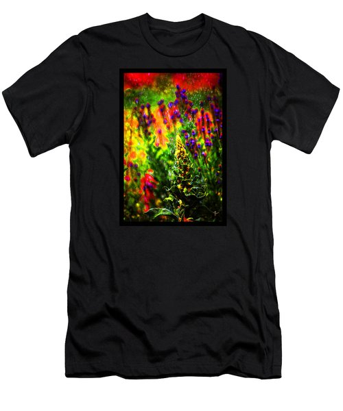 Colors Through The Rain Iv Men's T-Shirt (Slim Fit) by Susanne Still