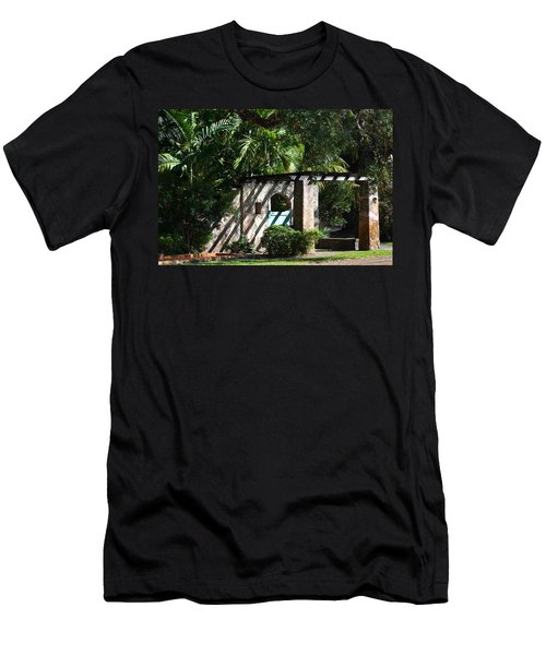 Men's T-Shirt (Slim Fit) featuring the photograph Coral Gables Gate by Ed Gleichman