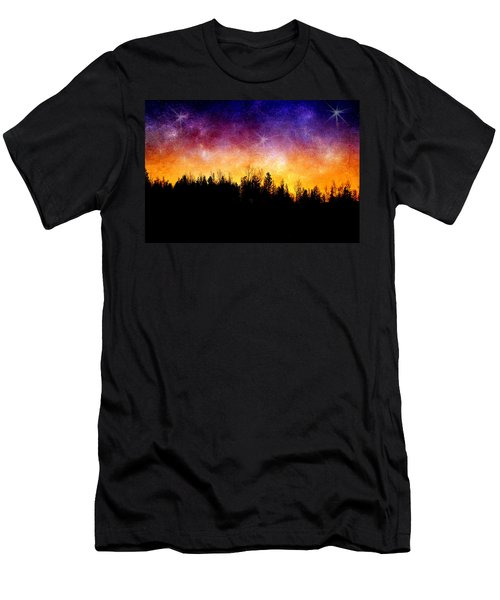 Cosmic Night Men's T-Shirt (Athletic Fit)