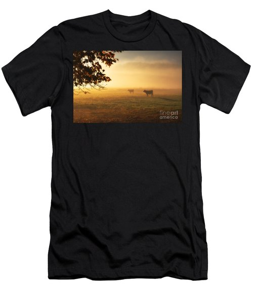 Cows In A Foggy Field Men's T-Shirt (Athletic Fit)