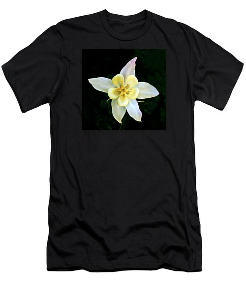 Creamy Columbine Men's T-Shirt (Slim Fit) by Nick Kloepping