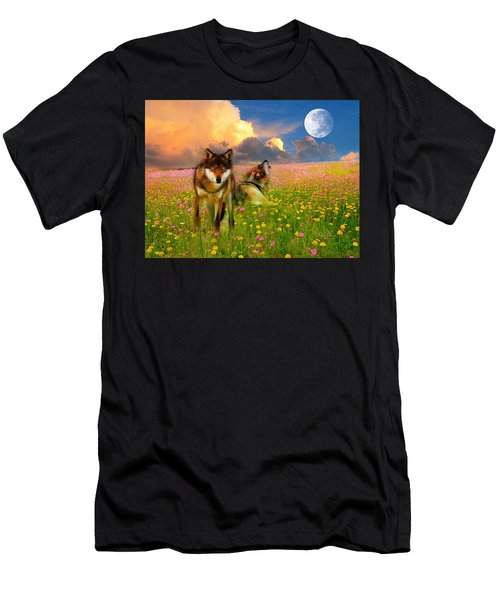 Cry At The Moon Men's T-Shirt (Athletic Fit)