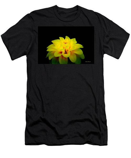 Men's T-Shirt (Slim Fit) featuring the photograph Dahlia Delight by Jeanette C Landstrom