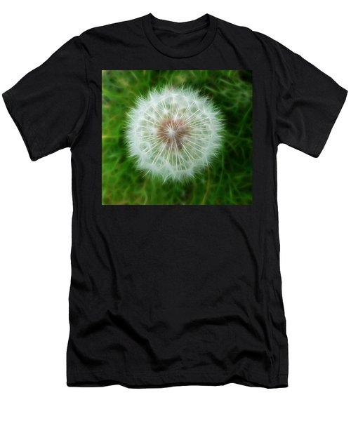 Men's T-Shirt (Slim Fit) featuring the photograph Dandelion Seed Head by Lynn Bolt