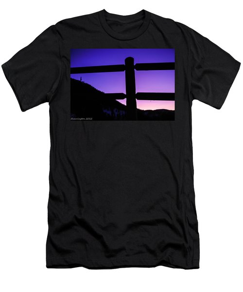 Men's T-Shirt (Slim Fit) featuring the photograph Darkening Sky by Shannon Harrington