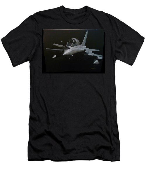 Men's T-Shirt (Athletic Fit) featuring the painting Dassault Rafale by Richard Le Page