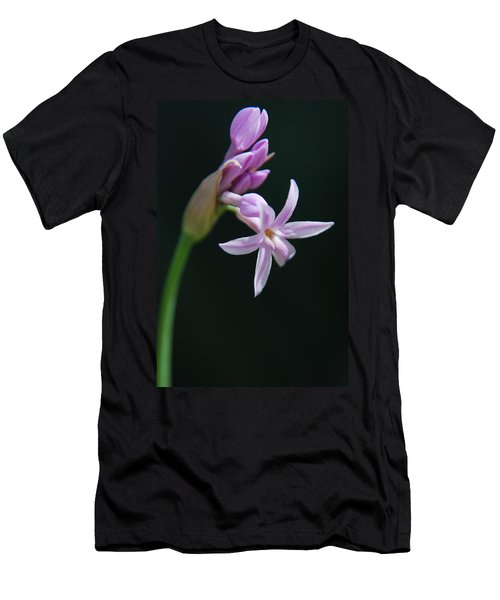 Men's T-Shirt (Slim Fit) featuring the photograph Flowering Bud by Tam Ryan