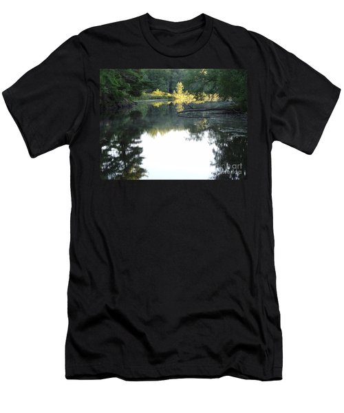 Deer River In Early Sun Men's T-Shirt (Athletic Fit)