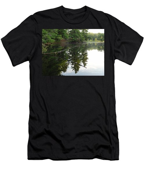 Deer River Reflection Men's T-Shirt (Athletic Fit)