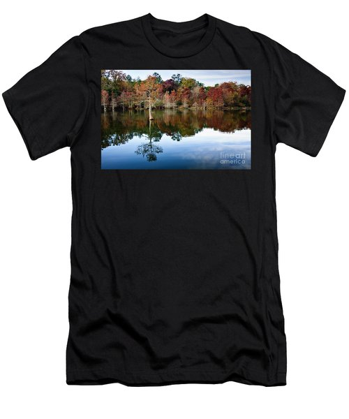 Men's T-Shirt (Slim Fit) featuring the photograph Beaver's Bend Defiant Cypress by Tamyra Ayles
