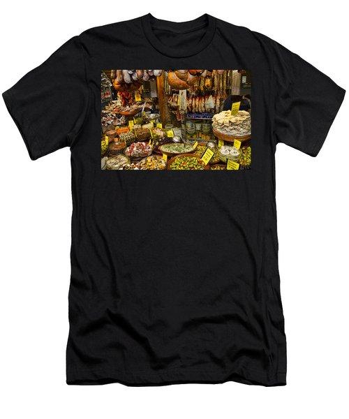 Deli In The Olivar Market In Palma Mallorca Spain Men's T-Shirt (Athletic Fit)