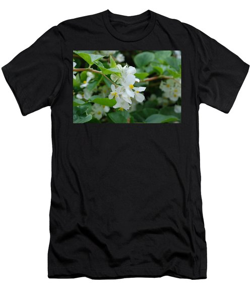 Men's T-Shirt (Slim Fit) featuring the photograph Delicate White Flower by Jennifer Ancker