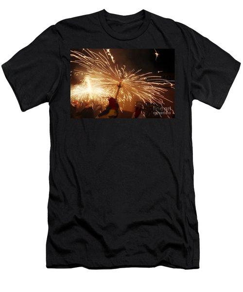 Demon Sparking Men's T-Shirt (Athletic Fit)