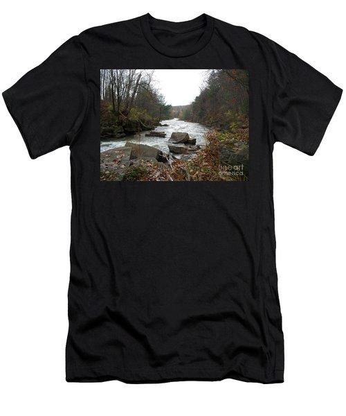 Men's T-Shirt (Slim Fit) featuring the photograph Destination Atlantic by Christian Mattison