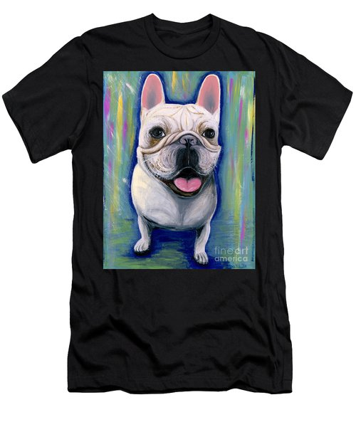 Dino The French Bulldog Men's T-Shirt (Athletic Fit)