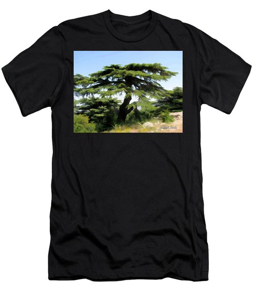 Do-00511 Cedar Forest Men's T-Shirt (Slim Fit) by Digital Oil