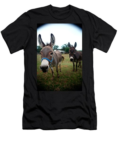 Men's T-Shirt (Slim Fit) featuring the photograph Doting Donkeys by Lon Casler Bixby