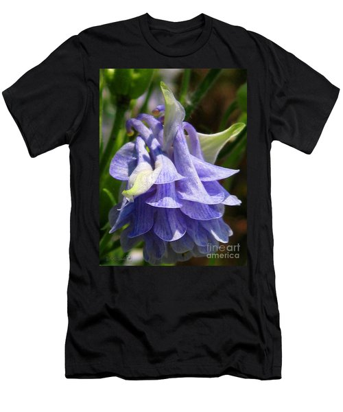 Men's T-Shirt (Slim Fit) featuring the photograph Double Columbine Named Light Blue by J McCombie